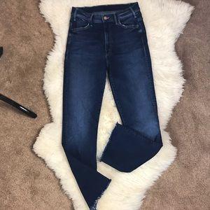 Mother NWOT Hustler Ankle Fray Jeans Size 27